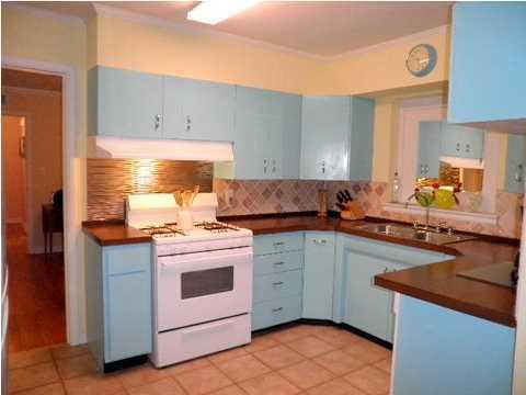 My Cool Blue Kitchen